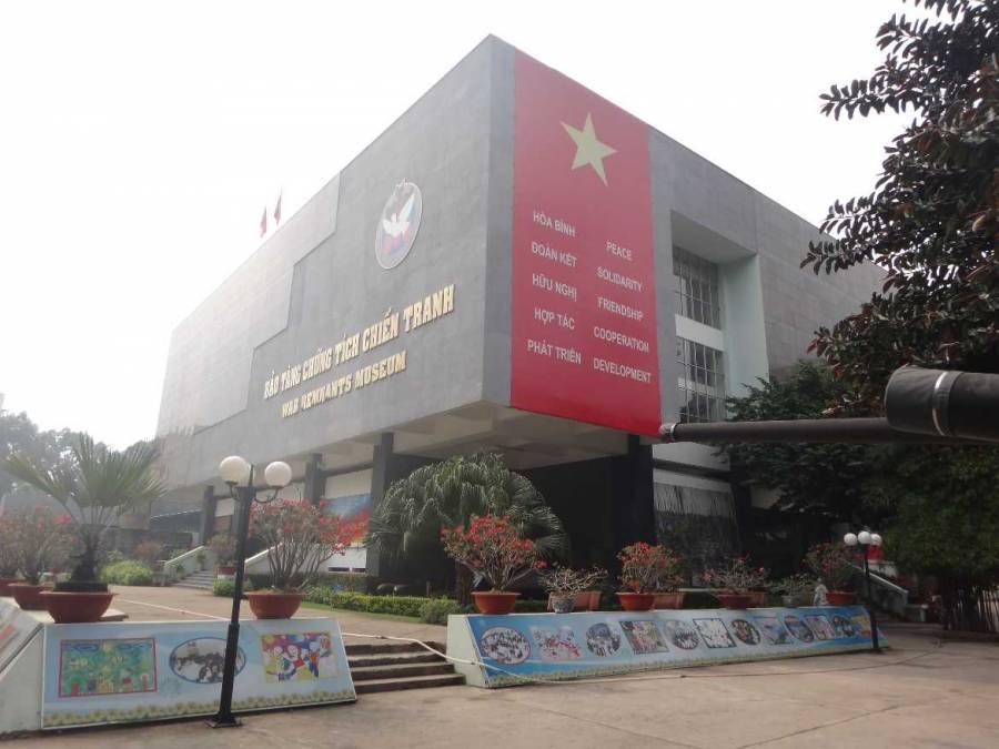 Vietnam | Süden, Kriegsopfermuseum in Ho Chi Minh City. Blick auf das Gebäude