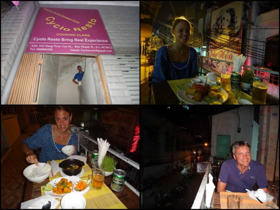 Vietnam | Süden, Restaurant Cyclo Resto in Ho Chi Minh City. Verschiedene Eindrücke des Restaurants und der Gerichte