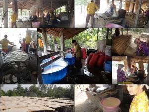 Vietnam | Süden, Besuch einer Reisnudelfabrik auf der Floating Market Tour bei Can Tho. Verschiedene Eindrücke der Entstehung von Reisnudeln
