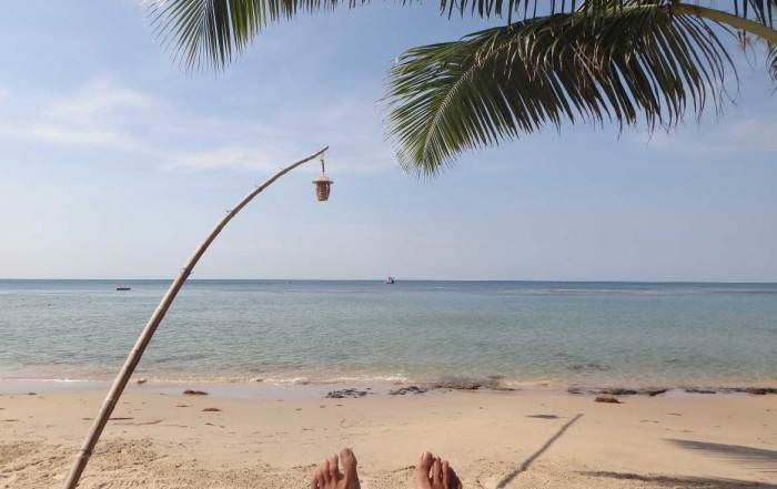 Vietnam | Süden, entspanntes schattiges Plätzchen unter Palmen am einsamen Ong Lang Beach auf Phu Quoc