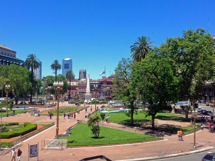 Buenos Aires | Sehenswürdigkeiten: Ausblick auf den Plaza de Mayo vom Cabildo
