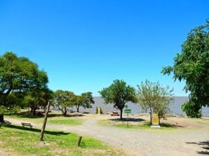 Argentinien | Sitzbänke am Ufer des Rio de la Plata im Naturpark Costanera Sur von Buenos Aires