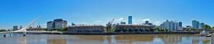 Buenos Aires | interessante Orte: Panorama auf Puerto Madero mit der bekannten Fußgängerbrücke
