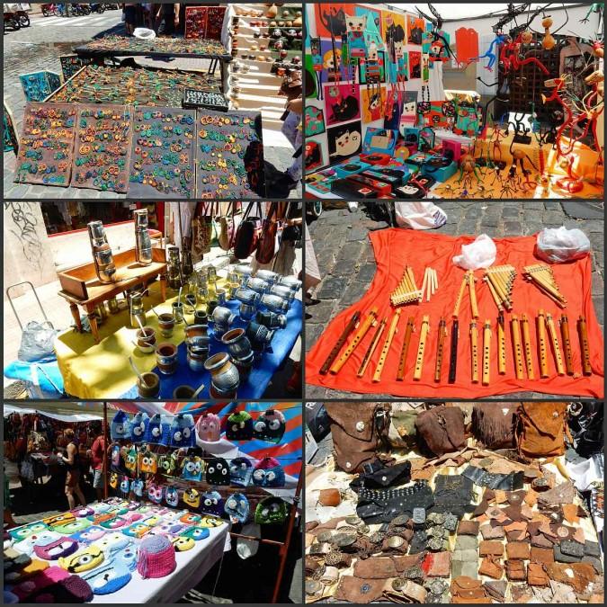 Argentinien | Buenos Aires, diverse coole Waren auf dem Markt in San Telmo