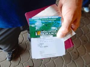 Brasilien | Eintrittskarte zum Parque Nacional Iguacu