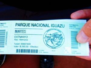 Argentinien | Eintrittskarte in den Parque Nacional Iguazu