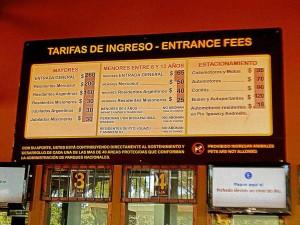 Argentinien | Eintrittspreise in den Parque Nacional Iguazu