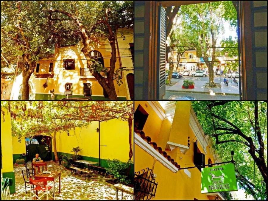 Argentinien | Unser Hostel in Mendoza, das Hostel Square Independencia mit schönem Innenhof voller Weinreben