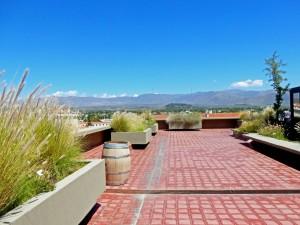 Mendoza | Sehenswürdigkeiten: Die Dachterrasse des Rathauses, Terraza Mirador, ist ein perfekter Aussichtspunkt auf die Stadt und die Anden