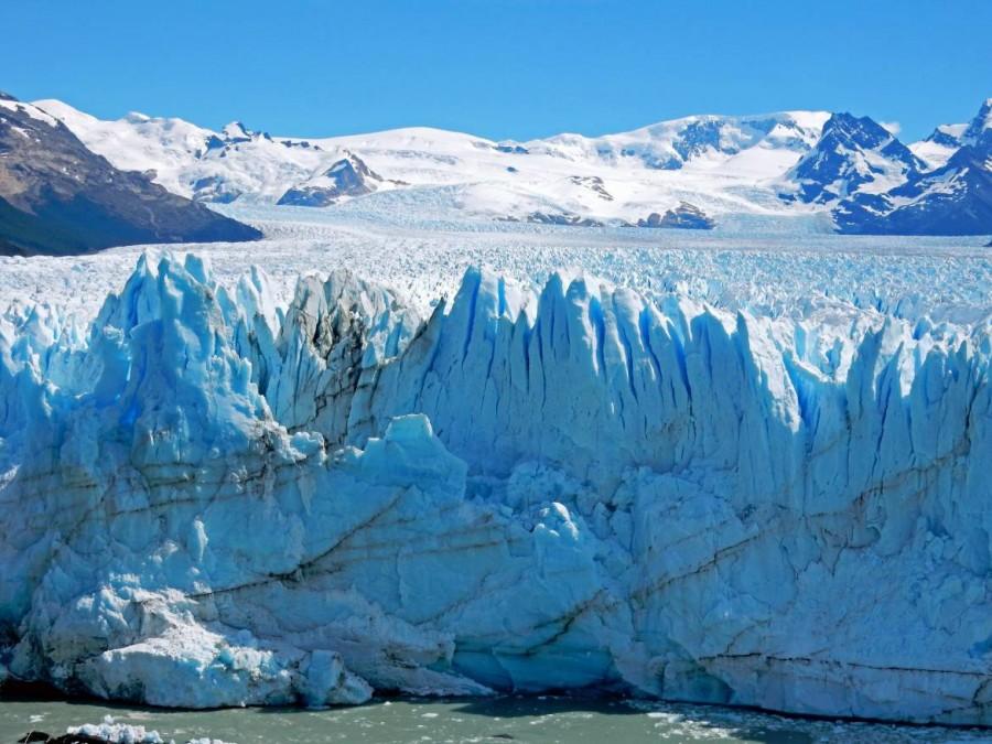 Argentinien | Patagonien, Ausmaß des Perito-Moreno-Gletschers bei El Calafate