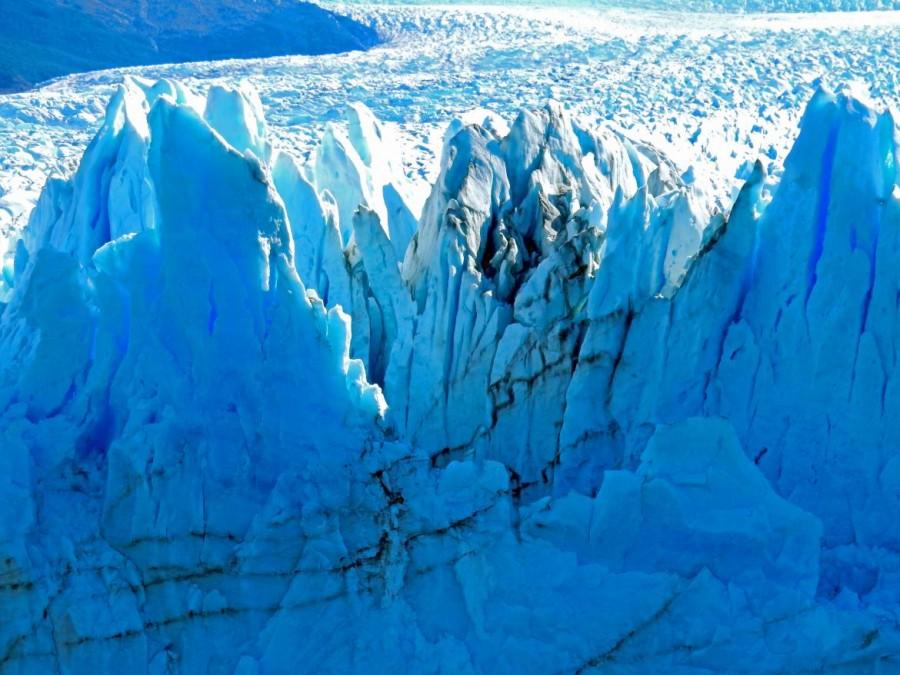 Argentinien | Patagonien, Lufteinschlüsse im Perito-Moreno-Gletscher bei El Calafate