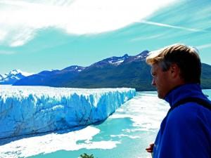 Argentinien Gletscher | Patagonien, Henning vor dem Perito-Moreno-Gletscher bei El Calafate