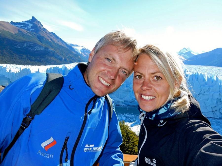 Argentinien | Patagonien, Karin und Henning vor dem Perito-Moreno-Gletscher bei El Calafate