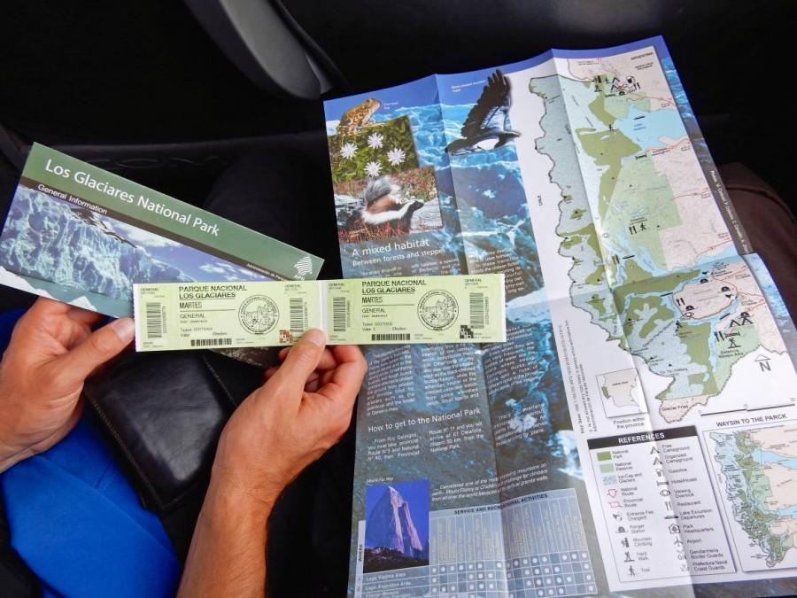 Argentinien | Patagonien, Eintrittskarte Los Glaciares National Park, Perito-Moreno-Gletscher bei El Calafate