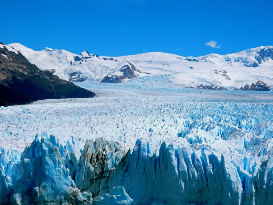 Argentinien | Patagonien, Perito-Moreno-Gletscher bei El Calafate im Sonnenschein