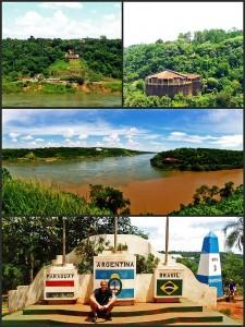 Argentinien | Hito Tres Fronteras, Dreiländereck zwischen Paraguay, Brasilien und Argentinien in Puerto Iguazu
