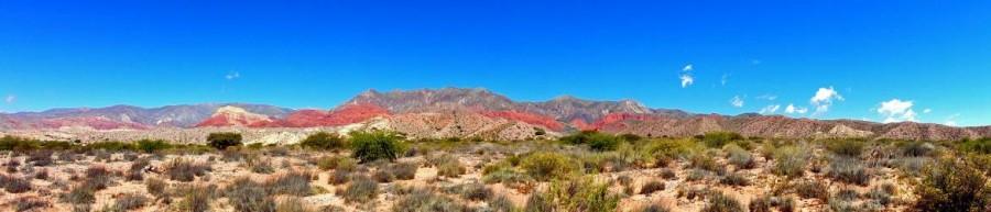 Argentinien | Bunte Berge sind typisch auf der Quebrada de Humahuaca von Tilcara nach Humahuaca