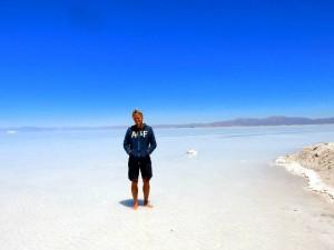 Argentinien | Henning geblendet in der Salinas Grandes del Noroeste