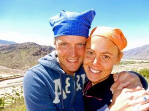 Region Salta, Argentinien | Selfie in Pucara de Tilcara von Karin und Henning mit Kopftüchern