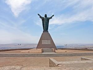 Chile | Christo Concordia Statue auf dem El Morro in Arica