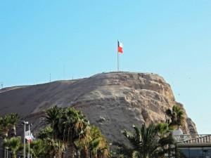 Chile | Fahne auf dem El Morro in Arica