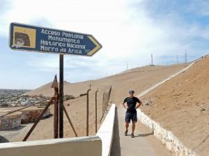 Chile | Henning am Startpunkt des Fußweg auf den El Morro in Arica