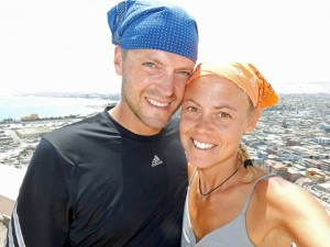 Chile | Karin und Henning ach dem Aufstieg auf den El Morro in Arica