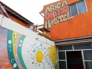 Chile | Blick auf das Arica Unite Hostel in Arica