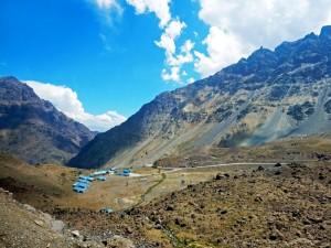 Chile | Bus Santiago - Mendoza, Dorf am Paso Internacional Los Libertadores bzw. Uspallata Pass