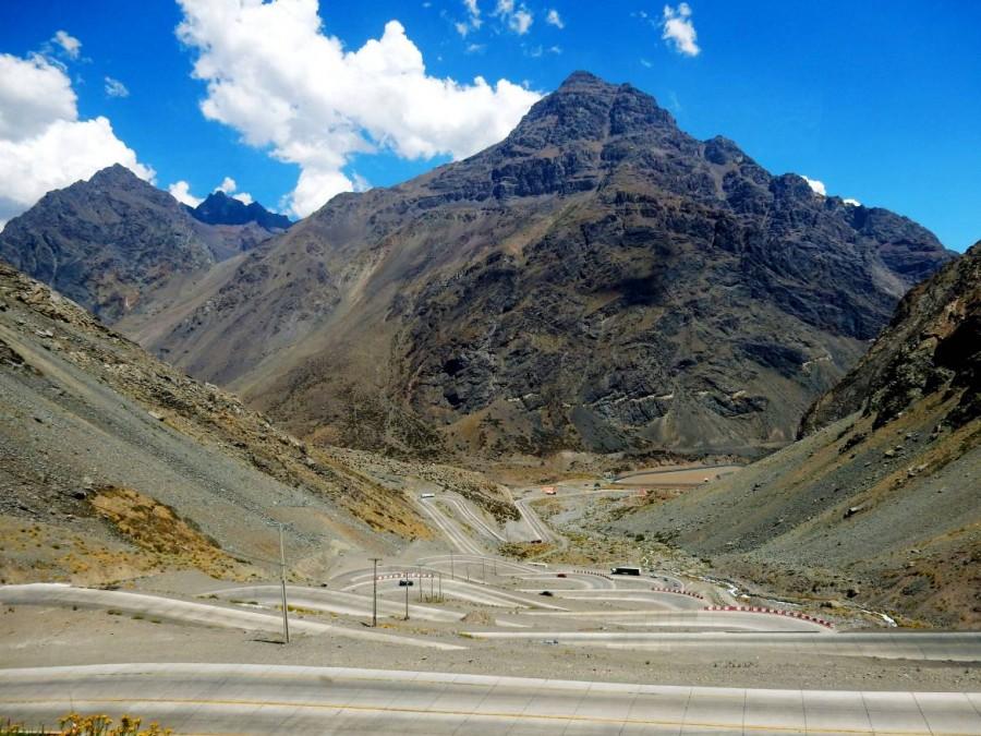 Chile | Bus Santiago - Mendoza, Mutter aller Serpentinen am Paso Internacional Los Libertadores bzw. Uspallata Pass