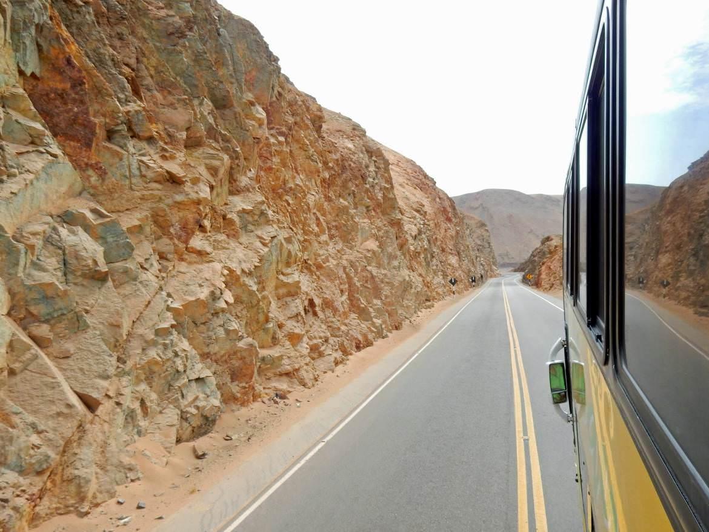 Peru | Chile, Straße von Tacna nach Arequipa. Panorama aus dem Bus