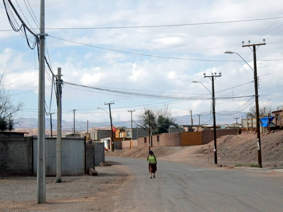 Chile | Straße etwas außerhalb von San Pedro de Atacama