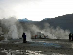 Chile | Atacama-Wüste, Frühstück am Tatio Geysir