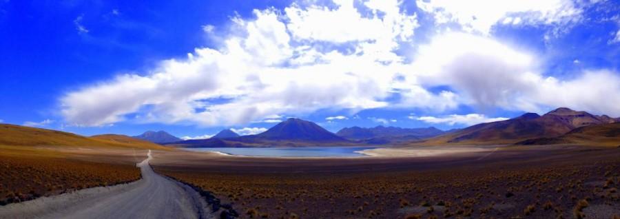 Chile | Atacama-Wüste, Panorama beider Anfahrt zu den Lagunen Miscanti und Menique