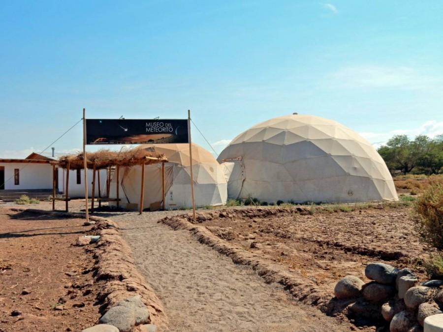 Chile | Sehenswürdigkeiten in San Pedro de Atacama: Das Meteoriten Museum, Museo del Meteorito. Blick auf den Eingang