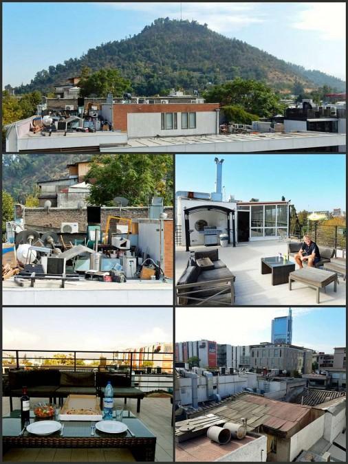 Chile | Eindrücke von der Dachterrasse des Rado Boutique Hostel in Santiago im Stadtteil Bellavista