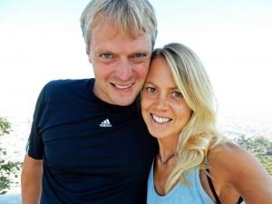 Chile | Selfie von Karin und Henning auf dem Cerro San Cristobal in Santiago