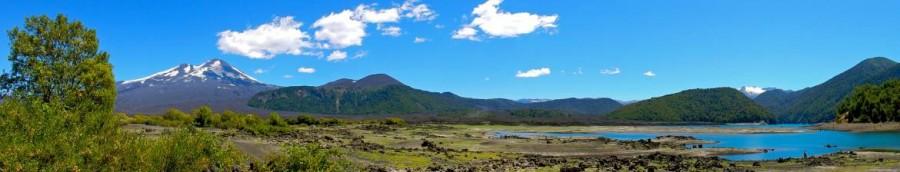 Chile | Temuco, Panorama auf die Laguna Verde im Conguillio National Park
