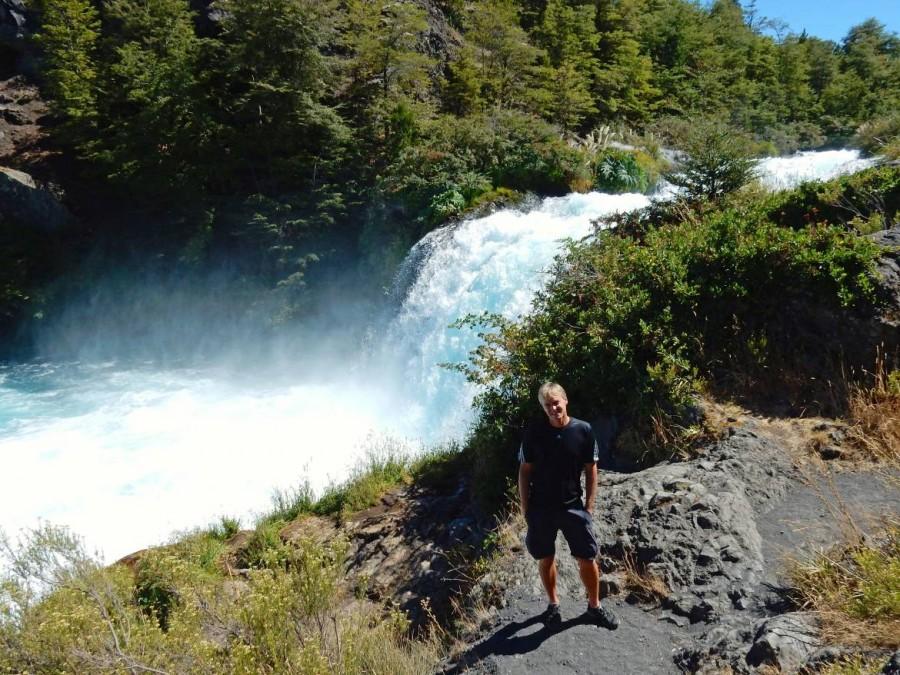 Chile | Temuco, Henning vor dem Truful Truful Wasserfall in der Nähe des Conguillio National Park
