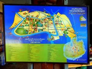 Thailand | abfotografierte Karte von Ayutthaya