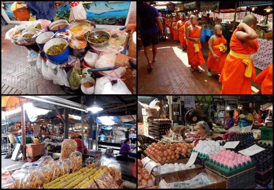 Thailand | Markt in Ayutthaya. Verschiedene Eindrücke des Marktes