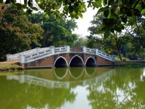 Thailand | Brücke im Rama Public Park