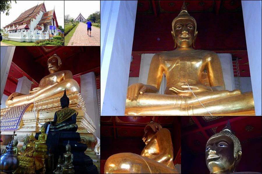 Thailand | Wihan Phra Mongkhon Bophit Tempel in Ayutthaya. Verschiedene Eindrücke des Tempels von Außen und Innen