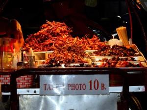 Thailand | Käfer und Würmer, eine Delikatesse