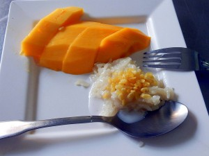 Thailand | Sticky Rice Mango in der Kochschule in Bangkok