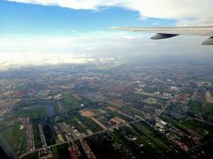 Thailand | Panorama der Vororte von Bangkok aus dem Flieger