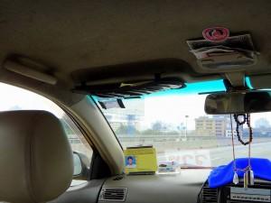 Thailand | Taxi fahren in Bangkok. Blick aus dem Taxi