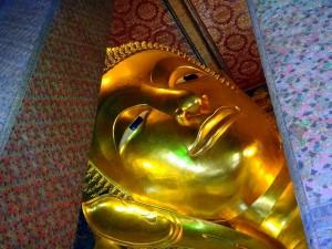 Thailand | Kopf des liegenden Buddha im Wat Po in Bangkok