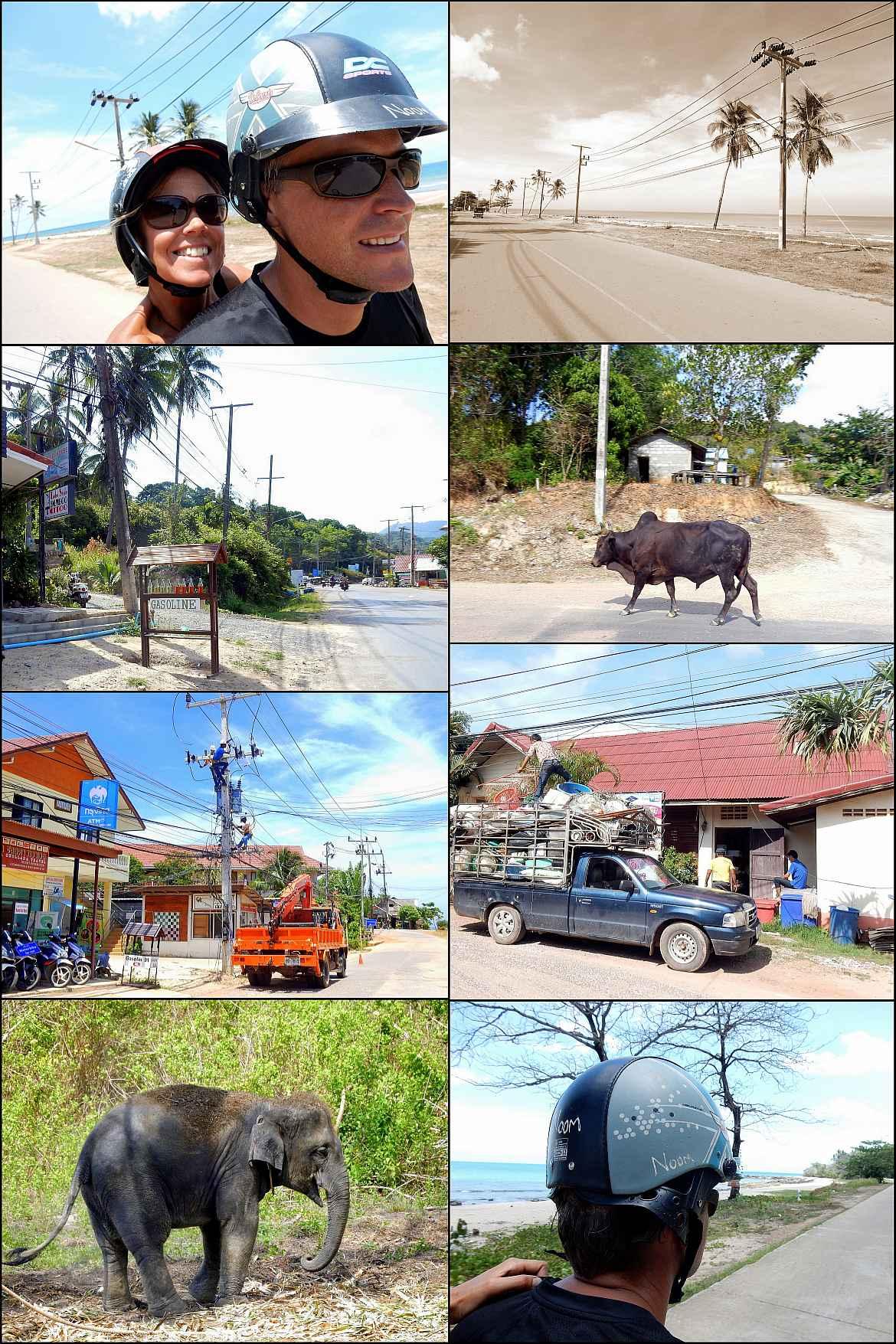 Thailand | Roller-Tour auf Ko Lanta. Verschiedene Eindrücke unserer Fahrt mit dem Moped über die Insel