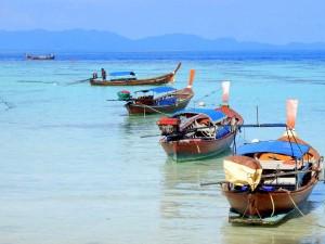 Thailand | Fischerboote auf Koh Lipe